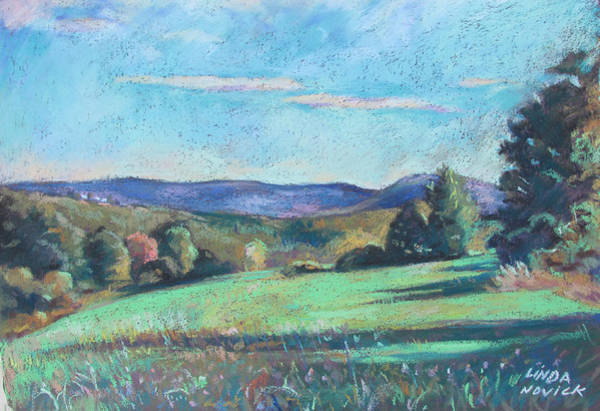 Painting - Green Field With Shadows by Linda Novick