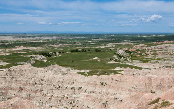 Photograph - Green Fields And The Badlands by John M Bailey