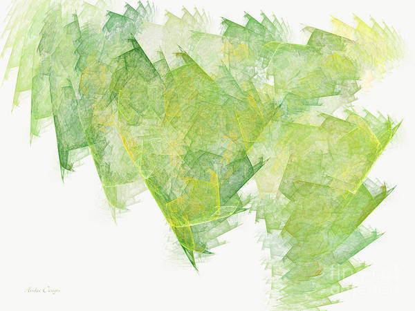 Wall Art - Digital Art - Green Flash Abstract by Andee Design