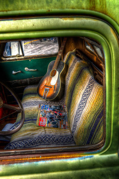 Photograph - Old Green Truck Door by Michael Ash