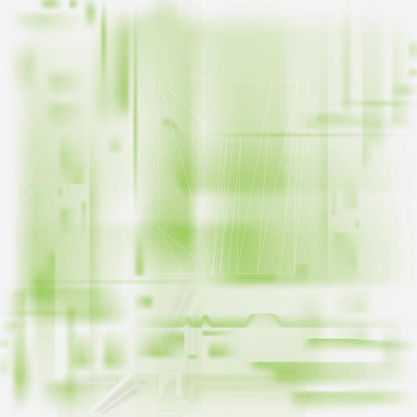 Green Ghost City Art Print