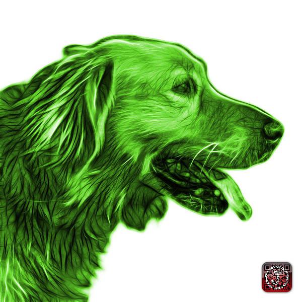 Painting - Green Golden Retriever - 4047 Fs by James Ahn