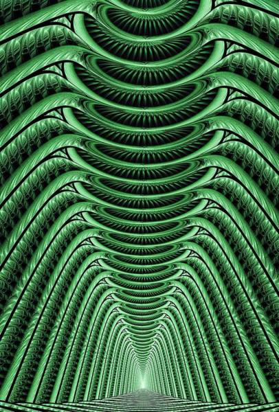 Digital Art - Green Hall by Anastasiya Malakhova