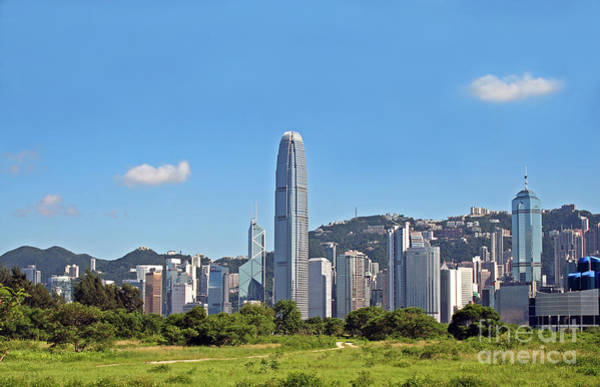 Wall Art - Photograph - Green Hong Kong Skyline by Lars Ruecker