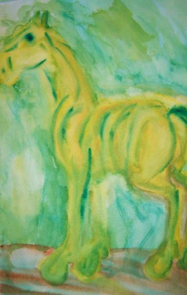 Aspect Wall Art - Painting - With Hope For A Green Future by Hilde Widerberg