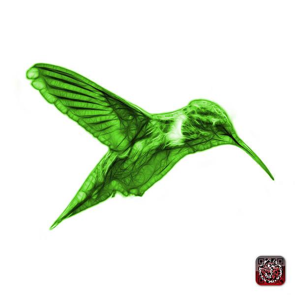 Digital Art - Green Hummingbird - 2054 F S by James Ahn