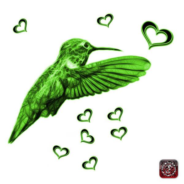 Digital Art - Green Hummingbird - 2055 F S M by James Ahn