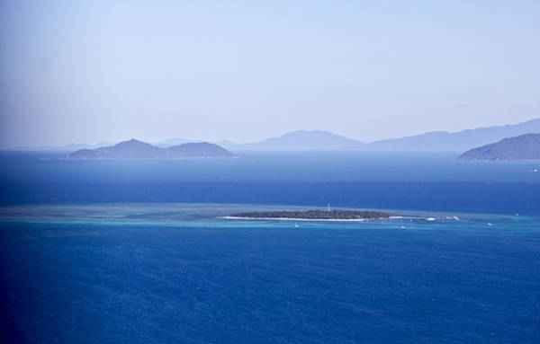 Green Island With Fitzroy Island In The Back Ground Art Print by Debbie Cundy