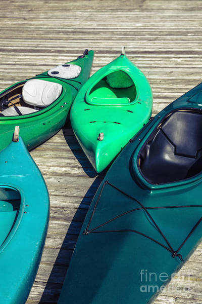 Photograph - Green Kayaks by Bryan Mullennix