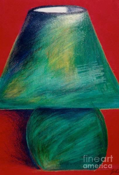 Drawing - Green Lamp by Jon Kittleson