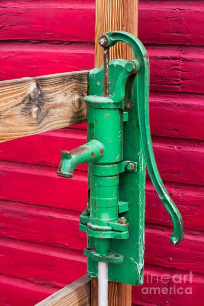 Photograph - Green Manual Pump From Well by Gunter Nezhoda