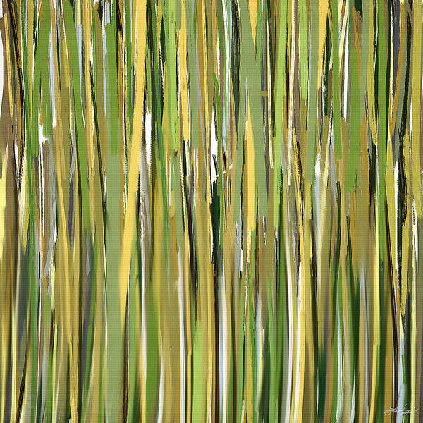 Shades Of Green Painting - Green Melodies by Lourry Legarde