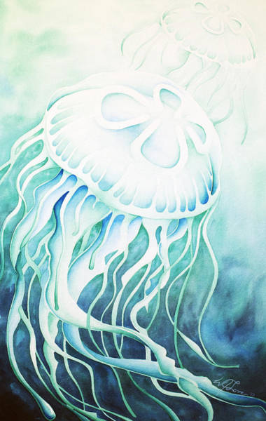 Painting - Green Moon Jelly by William Love