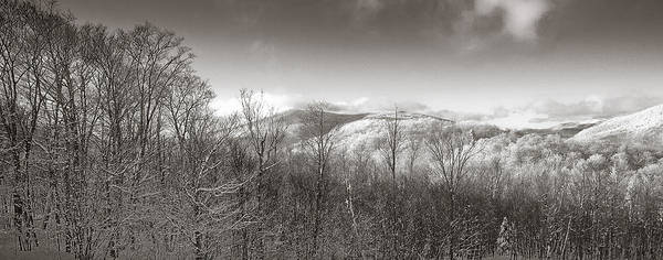 Boarding Pass Photograph - Green Mountains In Black And White by Patsy Zedar