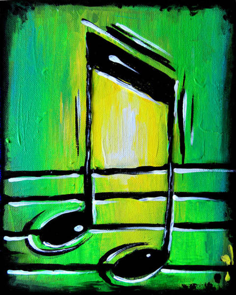 Painting - Green Notes by Nada Meeks