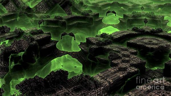 Digital Art - Green Odyssey by Bernard MICHEL