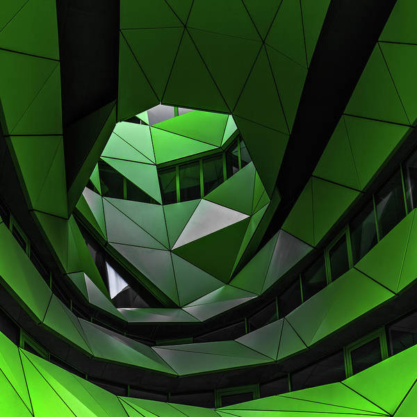 Modern Architecture Photograph - Green Offices by Gilbert Claes