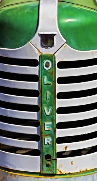 Green Oliver Farm Tractor Art Print