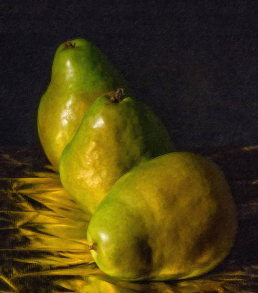 Painting - Green Pears by Dean Wittle