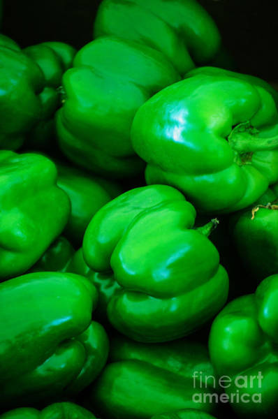 Photograph - Green Peppers by Tikvah's Hope