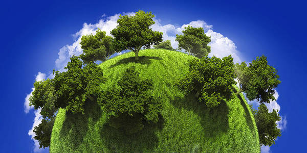 3d Render Digital Art - Green Planet Earth by Vitaliy Gladkiy
