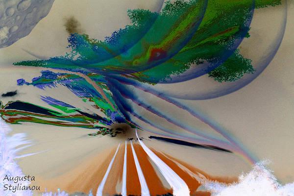 Digital Art - Green Planets by Augusta Stylianou