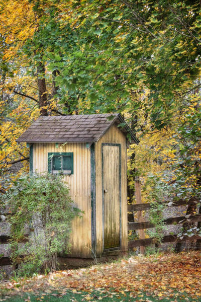 Water Closet Photograph - Green Point Outhouse by Lori Deiter