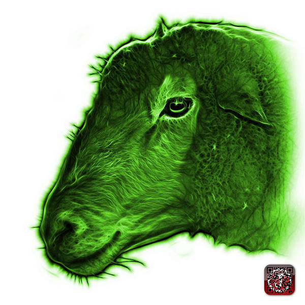 Digital Art - Green Polled Dorset Sheep - 1643 Fs by James Ahn