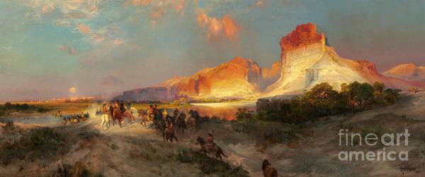 Wall Art - Painting - Green River Cliffs Wyoming by Thomas Moran
