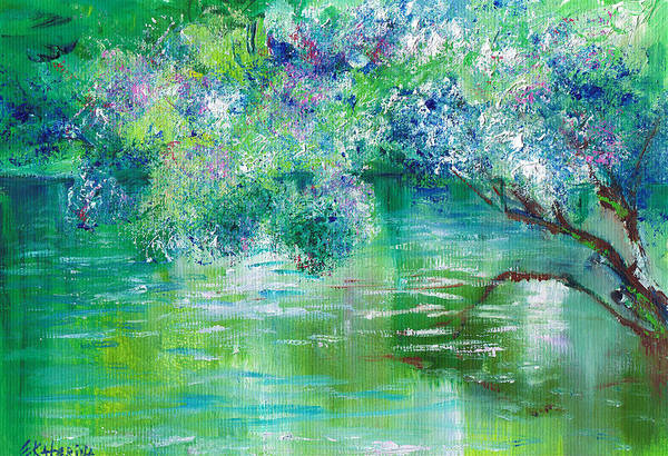 Painting - Green River by Ekaterina Chernova