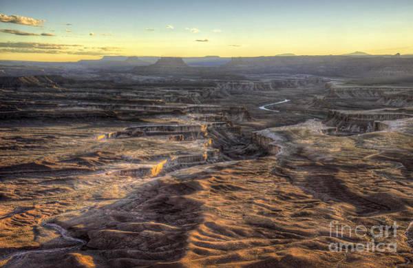 Photograph - Green River Sunset by David Waldrop