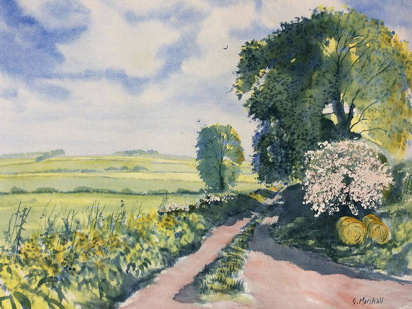 Painting - Green Road To Cottam by Glenn Marshall