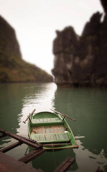 Oar Photograph - Green Row Boat by John Wong