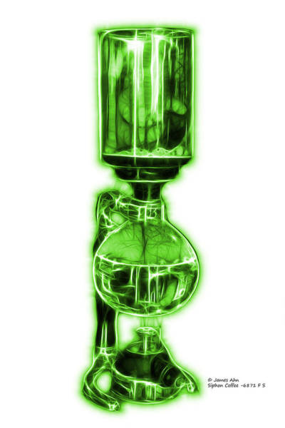 Digital Art - Green Siphon Coffee 6781 F S by James Ahn
