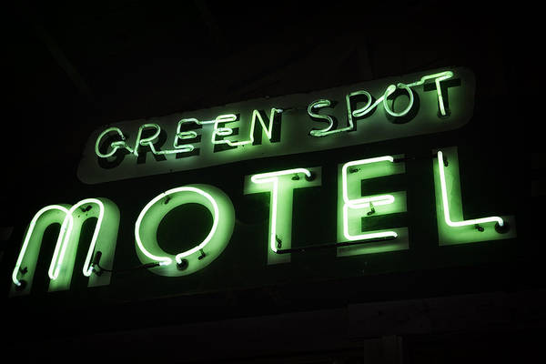 Green Spot Motel Art Print