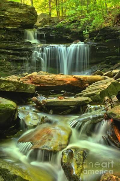 Photograph - Green Spring Cascades by Adam Jewell