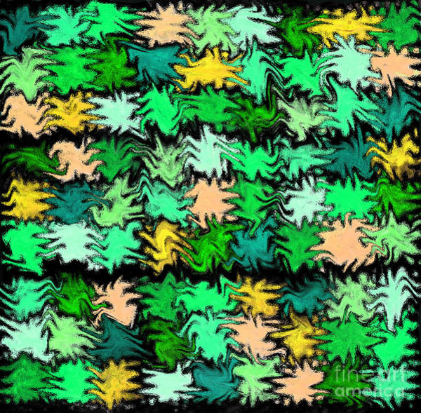 Photograph - Green Squiggle Quilt Abstract by Karen Adams