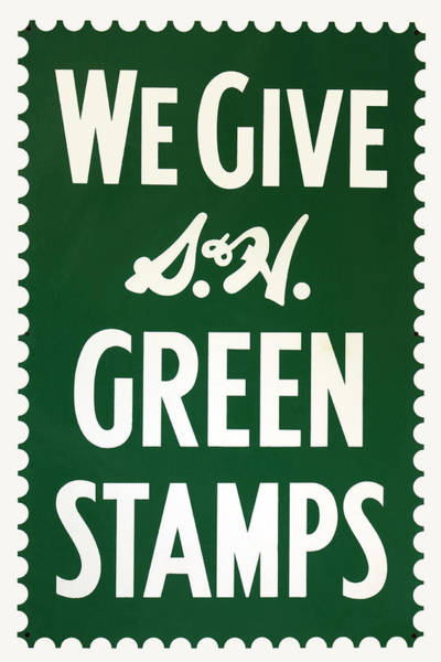 Photograph - Green Stamps by James Eddy