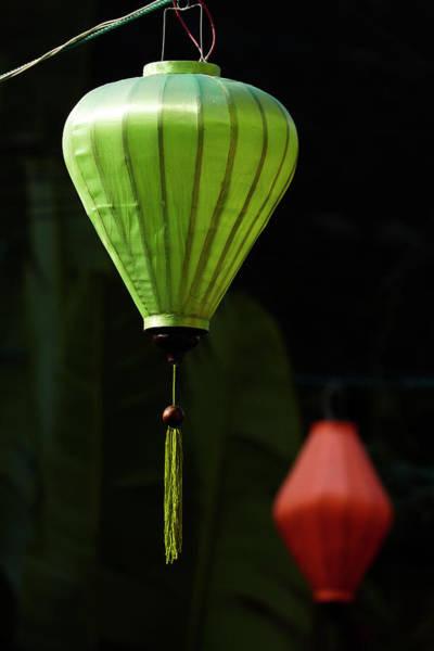 Hoi An Photograph - Green Street Lantern, Hoi An (unesco by David Wall