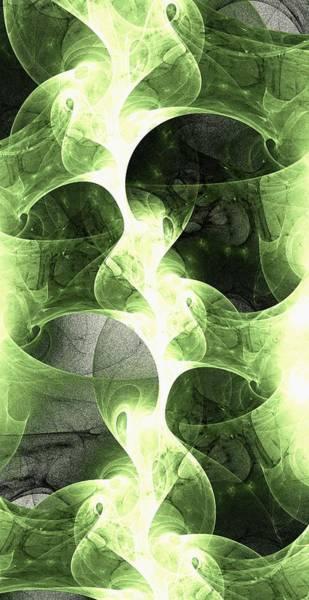 Color Burst Digital Art - Green Surge by Anastasiya Malakhova