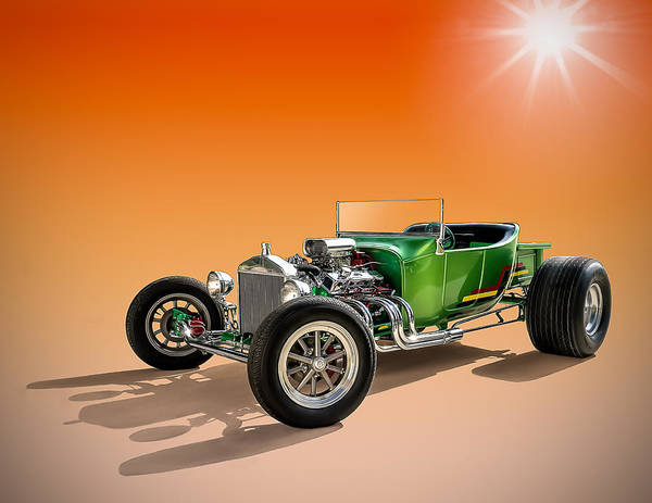 Roadster Wall Art - Digital Art - Green T With An Orange Twist by Douglas Pittman