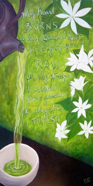 Japanese Poetry Painting - Green Tea by Rachel Cruse
