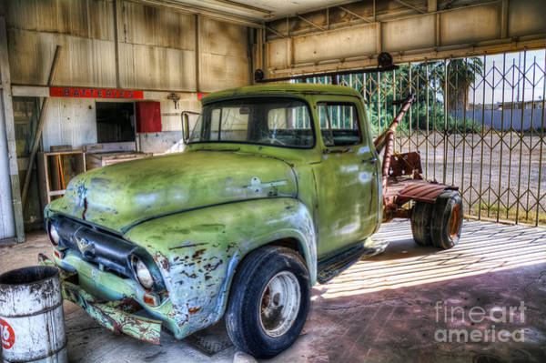 Photograph - Green Tow Mater by Eddie Yerkish