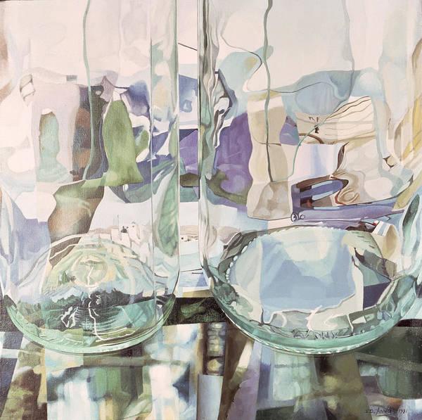 Jeremy Photograph - Green Transparency Transparence Verte 1981 Oil On Canvas by Jeremy Annett