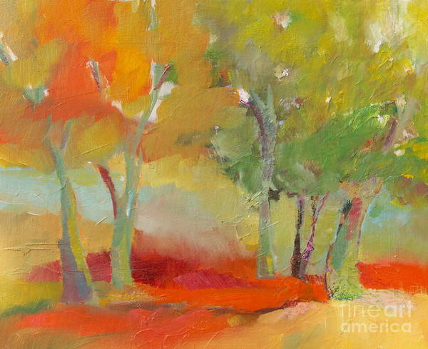 Painting - Green Trees by Michelle Abrams