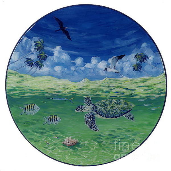 Above And Below Wall Art - Painting - Green Turtle Cay by Danielle  Perry