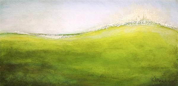 Painting - Green Wave Crest by Kaata    Mrachek