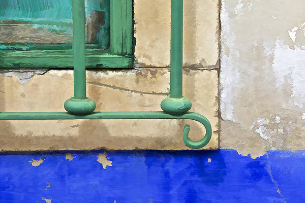 Photograph - Green Weathered Window by David Letts