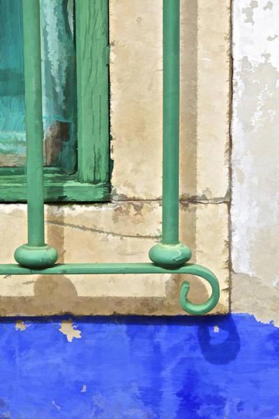 Photograph - Green Weathered Window II by David Letts