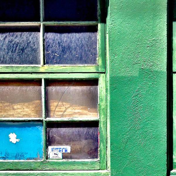 Wall Art - Photograph - Green Window Corner by Julie Gebhardt